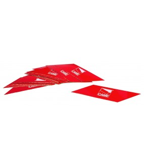 CONDITIONNEMENT N24 BANDES ROUGES FLUORESCENTES ADHESIVES POUR LISSE