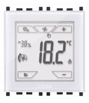 THERMOSTAT TACTILE KNX 2M BLANC