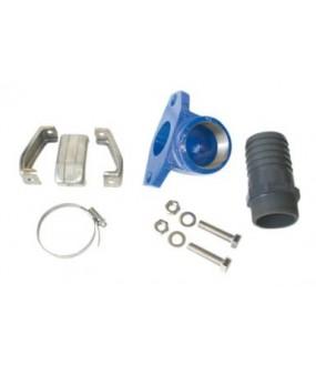 """39023046 Kit d'instal. transp. (3 pattes, coude 2"""", manch. 2""""/63, collier) avec flotteur pour Ama-Porte"""