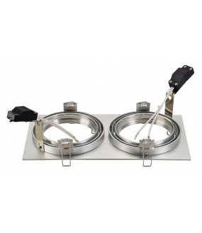NEW TRIA 2 QRB111 rect recessed brushed aluminum max 2x 75W clips springs