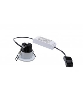 PATTA F-Recessed ceiling inside / outside round white LED 11W 3000K IP20 / IP65 RT 2012 Triac variable