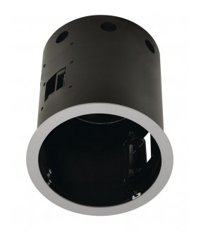 AIXLIGHT® PRO 1 ROUND WITH COLLAR part of silver gray Installation