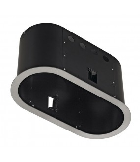 AIXLIGHT® PRO 2 ROUND WITH COLLAR part of silver gray Installation