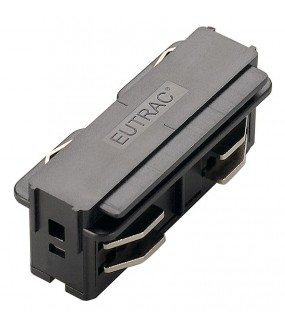 EUTRAC® 3-circuit rail for straight connector black inner projection