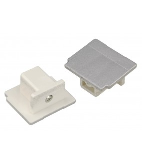 EUTRAC® ferrules for 3-circuit track gray interior projecting parts silver 2