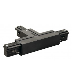 EUTRAC® T connector land left for 3-circuit track in black inside projection