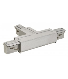 EUTRAC® T connector land left for 3-circuit rail gray interior projection money