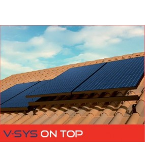 KIT V-SYS ON TOP 4X250W SUR TOITURE TUILE