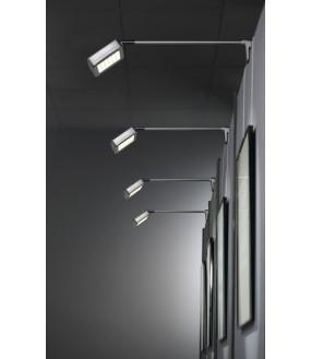DISPLAY spot on inner rod silver color LED 16W 4000K