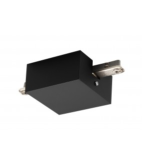 D-TRACK central feed with housing for rail 2 black interior lightings