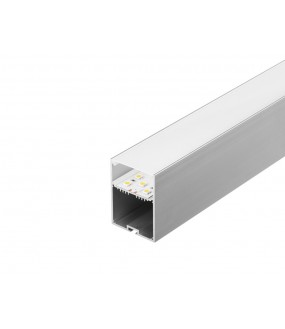 GLENOS® professional profile 4970-100 1m anodized aluminum with diffuser
