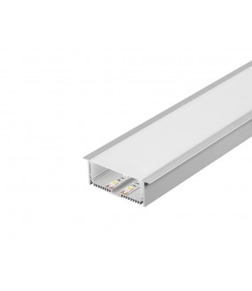 GLENOS® professional profile to enc. 8832-100 1m with aluminum diffuser ano