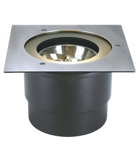 ADJUST 190 recessed stainless steel square outer ground G53 / QR111 50W IP67 stainless steel collar 304