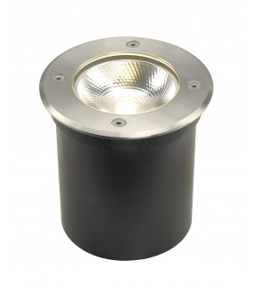 ROCCI recessed round stainless steel exterior ground LED 8,6W 3000K IP67 stainless steel collar 316