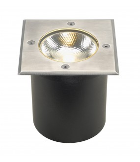 ROCCI recessed stainless steel square outer ground LED 8,6W 3000K IP67 stainless steel collar 316