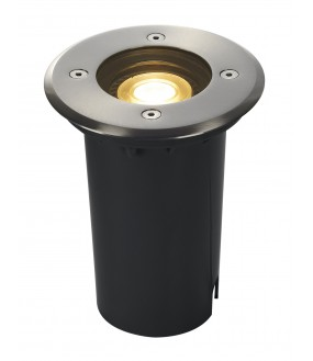 ground outside recessed SOLASTO round stainless GU10 / GU10 LED 6W max 51mm IP67 stainless steel flange 304