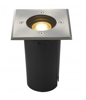 outdoor ground recessed SOLASTO square stainless GU10 / GU10 LED 6W max 51mm IP67 stainless steel flange 304