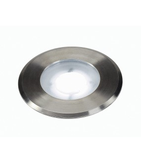 DASAR® 80 FLAT recessed exterior floor Brushed stainless steel LED 4,3W 5000K IP67 stainless steel flange 304