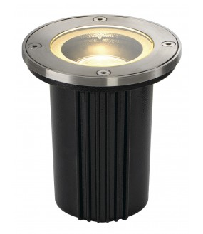 DASAR® EXACT 116 recessed exterior ground round brushed stainless GU10 / QPAR51 35W max IP67 collar 316 stainless steel