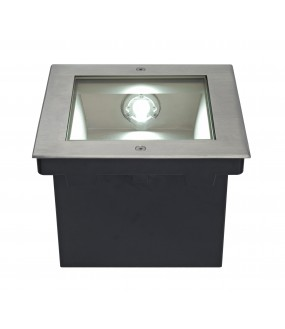 DASAR® 255 recessed stainless steel exterior ground LED 34W 4000K IP67 stainless steel collar 316