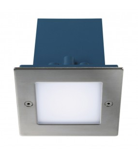 FRAME OUTDOOR LED recessed square steel white