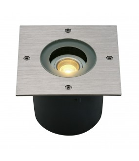 WETSY recessed stainless steel square outer ground LED 6,3W 3000K IP67 stainless steel collar 316
