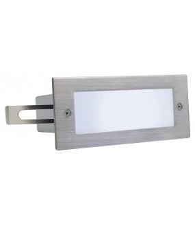 BRICK 304 stainless steel brushed recessed LED 1W 5700K IP44