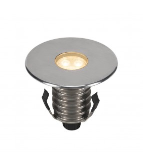 DASAR® 100 outdoor floor recessed PREMIUM round 24 ° stainless LED 5.5W 3000K IP67 stainless steel collar 316