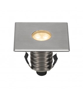 DASAR® 100 PREMIUM recessed square outside soil 24 ° stainless LED 5.5W 3000K IP67 collar 316 stainless steel