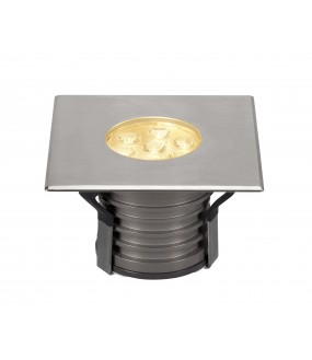 DASAR® 150 PREMIUM recessed square outside soil 30 ° 17W 3000K IP67 LED stainless steel collar 316