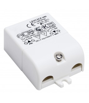 LED power supply 700mA 3W white interior strain relief included
