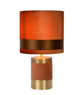 Extravaganza frizzle table lamp Ø 18 cm 1xE14 brown