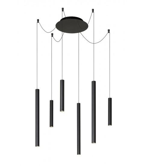 Lorenz LED Suspension Sun 6x4w 3000K Black