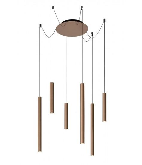 Lorenz Suspension LED dim. 6x4w 3000K rust