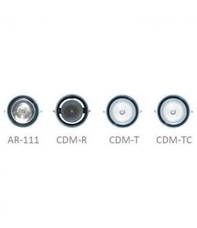 BRIC SUPPORT 1 LAMP CDM-R PAR30 ARGENT