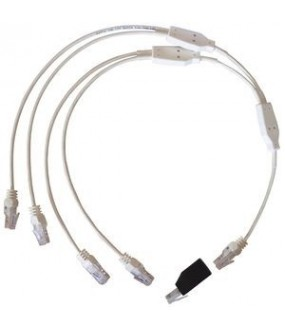 CORDON QUADRUPLE TELEPHONE/RJ45