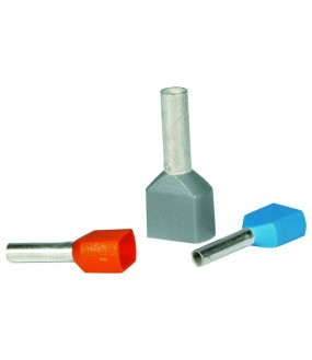 EMBOUT DBL 2 X 2.5MM² GRIS(SACH100)