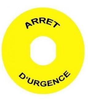 ETIQUETTE ARRET URGENCE