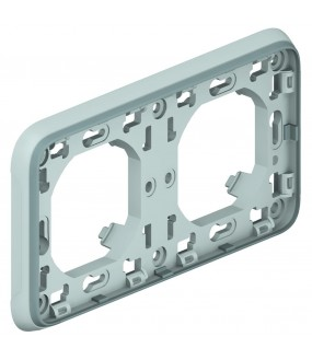 PLEXO PLAQUE SUPPORT 2PH GRIS
