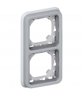 PLEXO PLAQUE SUPPORT 2PV GRIS