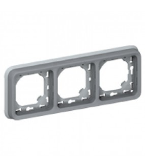 PLEXO PLAQUE SUPPORT 3PH GRIS