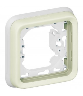 PLEXO PLAQUE SUPPORT 1P BLANC