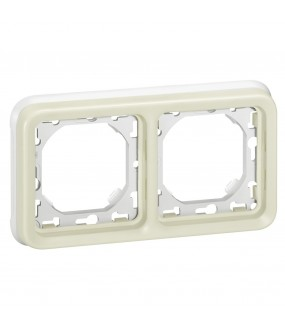 PLEXO PLAQUE SUPPORT 2PH BLANC