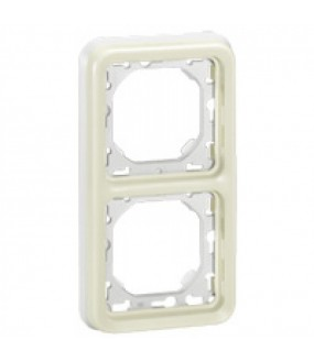 PLEXO PLAQUE SUPPORT 2PV BLANC