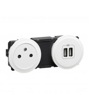 CELIANE CHARGEUR USB+ 2P+T FB PRECAB