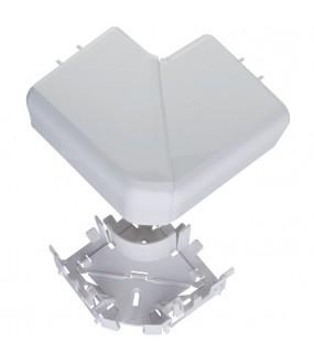 DLP ANGLE PLAT 80X35/50 BLANC