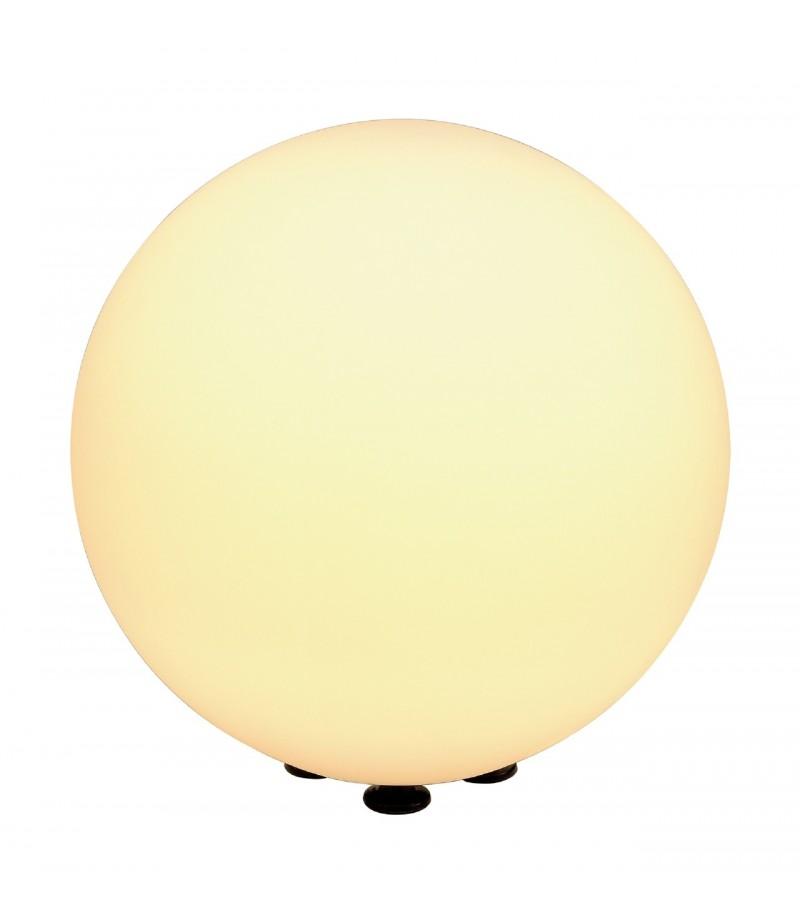 Rotoball floor 40 luminaire exterieur blanc e27 max 24w for Luminaire exterieur blanc