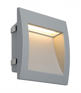 DOWNUNDER OUT LED L, ENCASTRE MURAL GRIS ARGENT, LED 0.96W 3