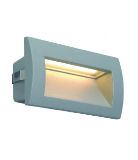 DOWNUNDER OUT LED M, ENCASTRE MURAL GRIS ARGENT, LED 0.96W 3