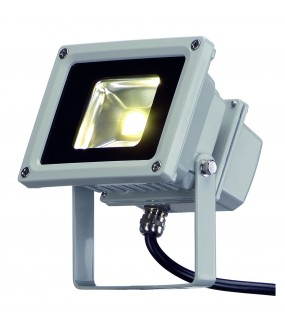 LED OUTDOOR BEAM, GRIS ARGENT, 10W, 3500K, 100DEG, IP65